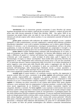 Abstract - Dottorato in Storia e Scienze filosofico