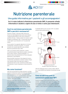Cos`è la nutrizione parenterale - Agency for Clinical Innovation