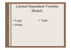 Dummy Dependent Variable