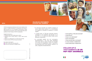 follow-up e trattamento di un pap-test anormale