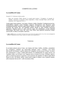 La sconfitta di Canne - Liceo Scientifico