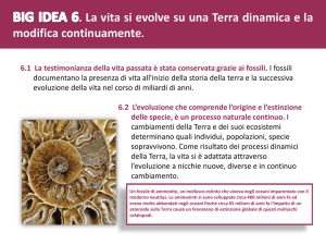 BIG IDEA 6. La vita si evolve su una Terra dinamica e la modifica