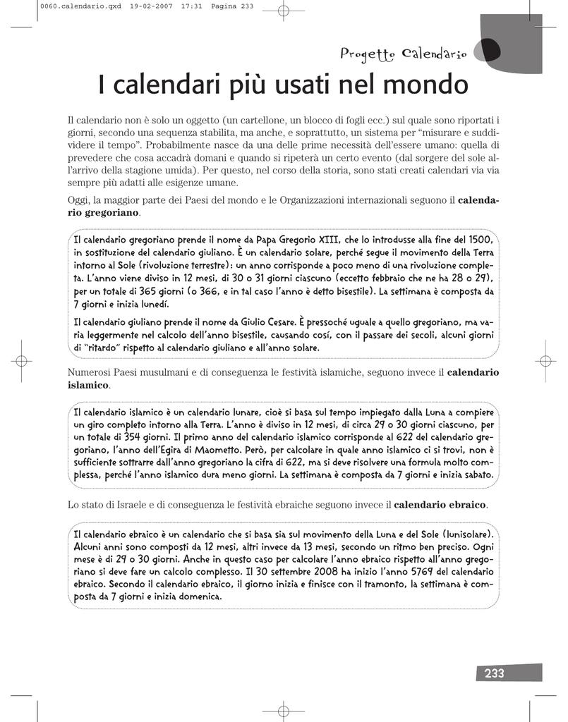 Il Calendario Islamico.I Calendari Piu Usati Nel Mondo