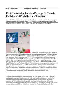 Fruit Innovation lancia all`Anuga di Colonia l`edizione