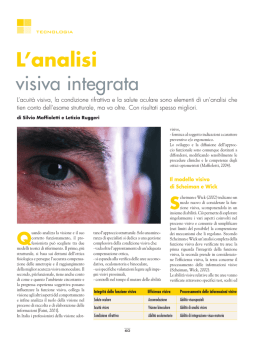 L`analisi visiva integrata