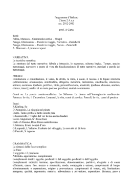 Programma d`Italiano Classe 2 A sa as 2012-2013