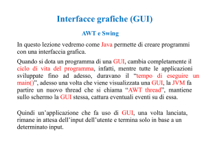 Interfacce grafiche (GUI)