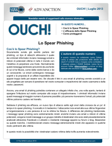 Lo Spear Phishing - SANS Securing the Human