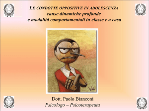 Le condotte oppositive in adolescenza