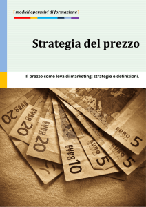 STRATEGIA DEL PREZZO: il prezzo come leva di marketing