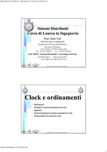 Clock e ordinamenti