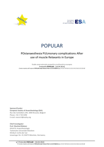 popular - European Society of Anaesthesiology