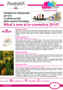 Amitalia Newsletter Incosmetics 2016