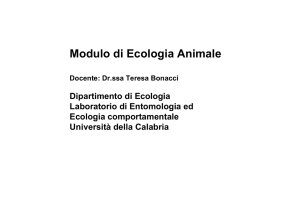 slides ecologia animale