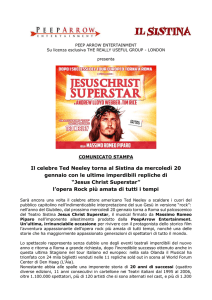 Comunicato Jesus Christ Superstar