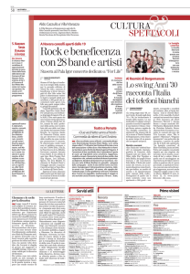 Rock e beneficenza con 28 band e artisti
