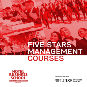 Scarica il fact sheet - Master in Five Stars Hotel Management