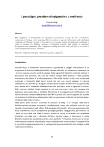 Il Paradigma Genetico - Humana.Mente Journal of Philosophical