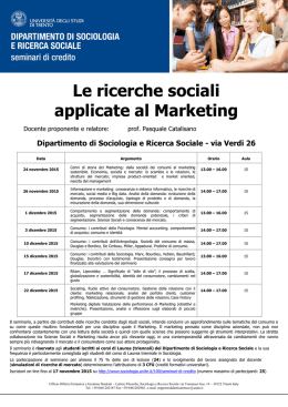 Le ricerche sociali applicate al Marketing