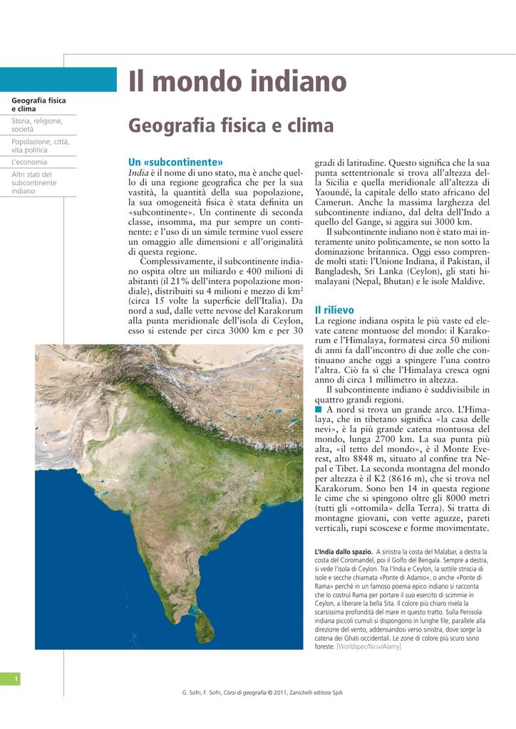 Cartina Muta Del Subcontinente Indiano.Il Mondo Indiano Zanichelli Online Per La Scuola
