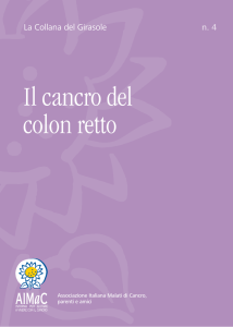 Il cancro del colon retto