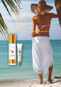 pelle protetta dal sole sun protection