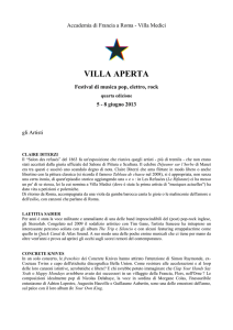 Villa Aperta 2013 - Biografie.it