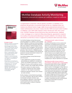 McAfee Database Activity Monitoring Scheda Tecnica