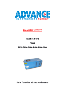 Scarica il manuale dell`INVERTER POWER STAR W7