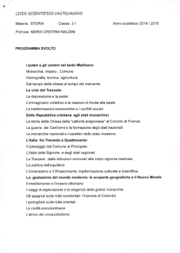 ÿþs toria 3 I - Liceo Scientifico Guido Castelnuovo
