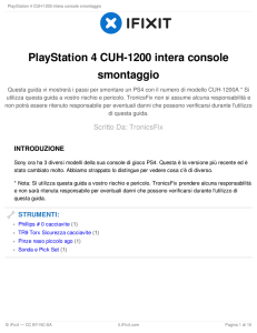 PlayStation 4 CUH-1200 intera console smontaggio