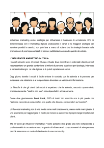 Influencer marketing come strategia per influenzare il business di un