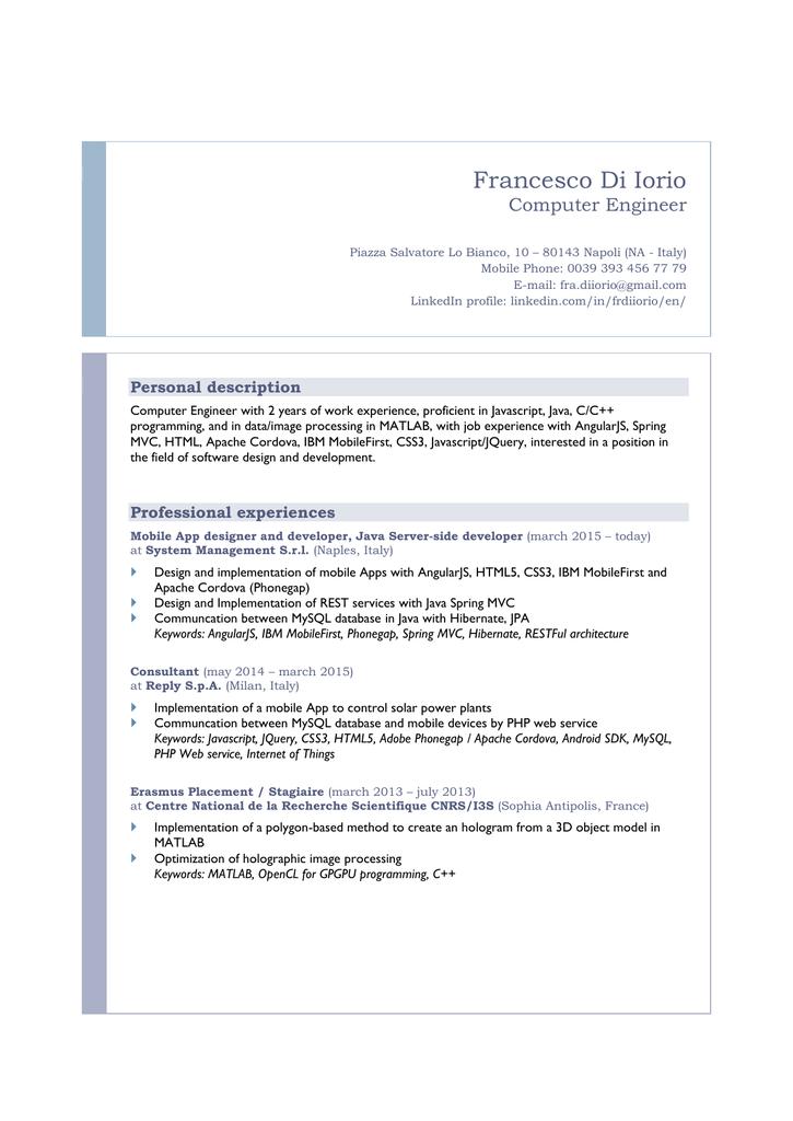 Resume (Origin theme)