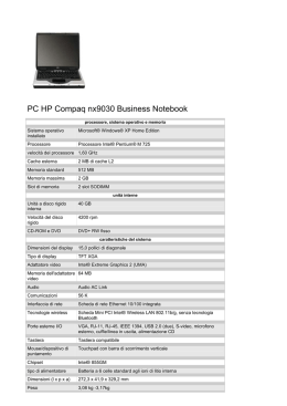 PC HP Compaq nx9030 Business Notebook