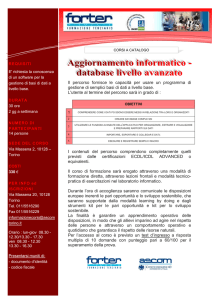 database livello avanzato
