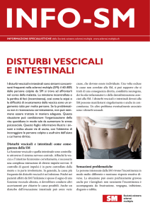 DISTURBI VESCICALI E INTESTINALI