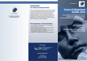 Corso di Dissezione AUORL 2016 - Iclo Teaching and Research