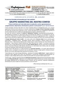 GRUPPO MARKETING DEL NOSTRO CONFIDI