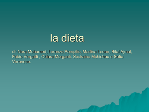 La dieta - Istitutocomprensivocavaria.it