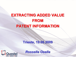 EXTRACTING ADDED VALUE FROM PATENT