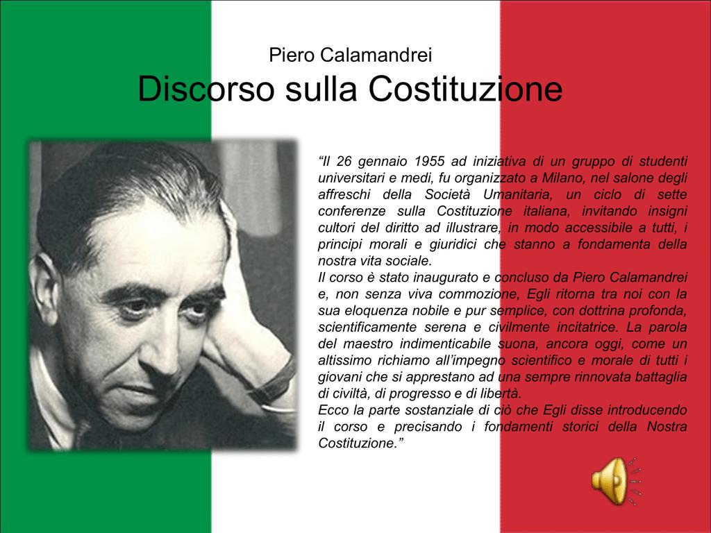 Piero Calamandrei Discorso sulla Costituzione