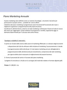 Piano Marketing Annuale