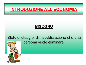 INTRODUZIONE ALL`ECONOMIA – PowerPoint