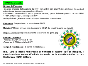 HIV DNA provirale Scopo dell`esame