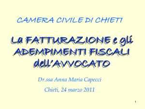 Diapositiva 1 - Camera Civile Chieti