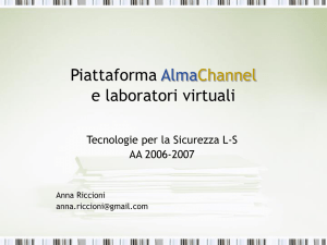 Piattaforma AlmaChannel e laboratori virtuali