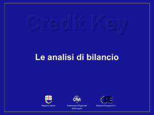 CREDIT KEY Le Analisi di Bilancio