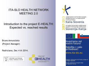 Project acronym/ Project Title in SLOVENE - E