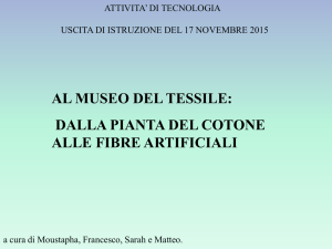 dalla pianta del cotone alle fibre artificiali