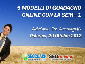 Diapositiva 1 - SEO Training ON TOUR